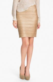 Haute Hippie Metallic Bandage Pencil Skirt