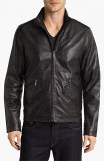 Michael Kors Embossed Leather Jacket (Online Exclusive)