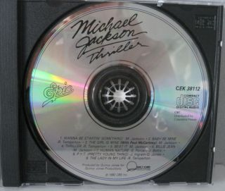 Michael Jackson Thriller CD Canada 1982