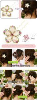 Wedding Crystal Rhinestone Bridal Hair Pin Clip & Hair Band Set Lot