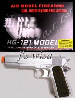 HFC Semi Auto Green Gas 8 1911 Silver Airsoft Pistol
