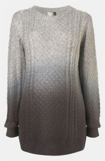 Topshop Maternity Dip Dye Cable Knit Sweater