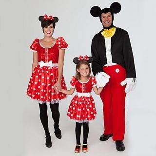 Deluxe Minnie Mouse Red Polka Dot Costume Dress S 4 5 6