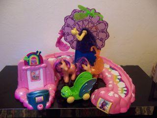 Rainbow Wishes Butterfly Island Amusement Park w Coaster Wheel