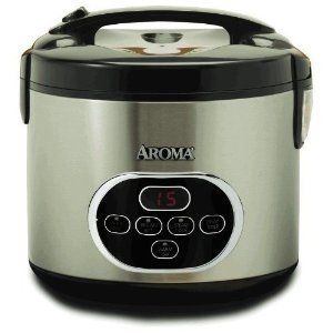 Aroma ARC 930SB 10 Cup Sensor Logic Rice Cooker Food Steamer
