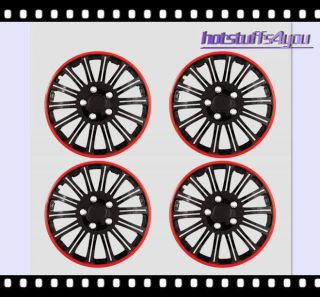 16 Cobra Black Chrome Wheel Covers Hubcaps Center Hub Caps R Set of 4