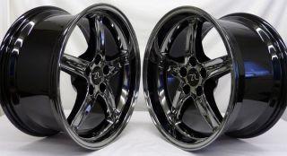 Mustang Cobra R Wheels 18x9 10 inch 1994 2004 18 inch Black Chrome