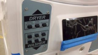 Maytag Natural Gas Commercial Stacked Washer Dryer Combo MLG20PRBWW