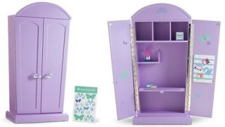 American Girl Today Purple Armoire Computer Desk Furniture Brand New