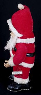 Vtg 50s Rushton Coca Cola Rubber Face Santa Claus Plush Christmas