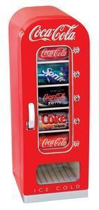 CVF18 Coca Cola retro vending machine mini fridge Free Shipping
