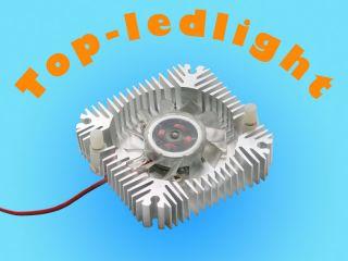 Aluminum HeatSinks with Fan for 5W 10W High Power LED Light Cooling