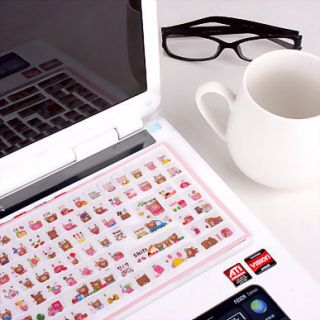 Laptop Keyboard Protecting Sticker 3D Colorful Computer Keyboard