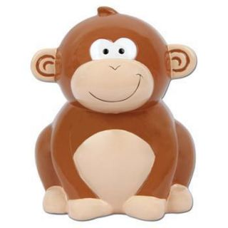 NEW Stephen Joseph Monkey Baby Ceramic Piggy Bank
