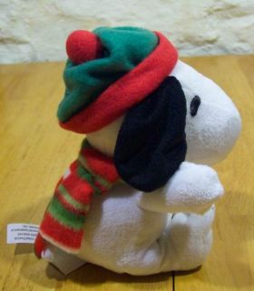 Snoopy Peanuts Animated Christmas Musical Plush Toy New
