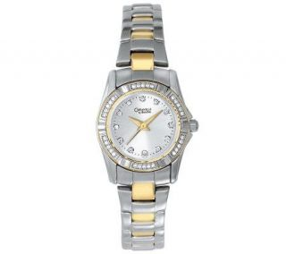 Caravelle by Bulova Womens Stainless Steel Two tone Watch   J304317