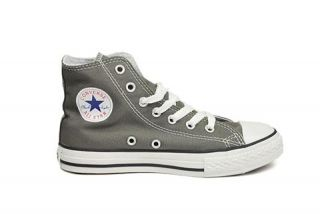 Converse Shoes All Star Chuck Taylor Charcoal Youth Boys Sizes 3J793