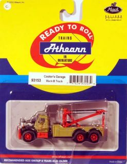 DL Athearn 93153 1 87 Mack B Tow Truck Cooters Garage