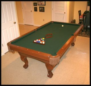 AMF PLAYMASTER POOL TABLE + PING PONG CONVERSION TOP 8 FOOT CUES RACK