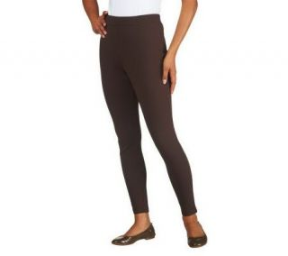 Liz Claiborne New York Full Length Ponte Knit Leggings —