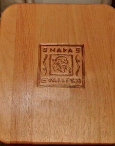 Vintage Napa Valley Wooden Rack w Sliding Divider CD DVD Book Cookbook