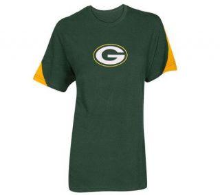 NFL Green Bay Packers Womens Plus Shoulder Stripe T Shirt —