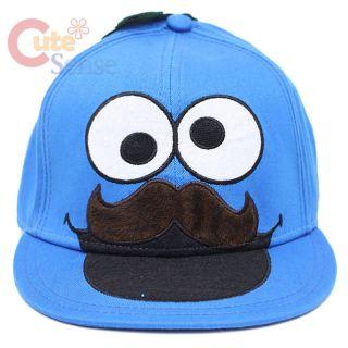 Sesame Street Cookie Monster Mustache Flex Fit HatTeen/Adult