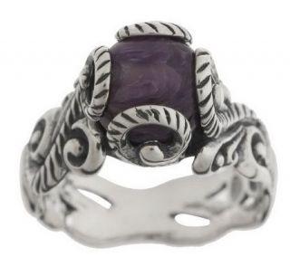 Carolyn Pollack Sterling Gemstone Bead Ring —