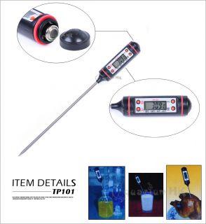 Multi Purpose Aquarium Kitchen Cooking Digital Thermometer Pen Probe