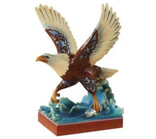 Jim Shore Heartwood Creek Bald Eagle Figurine —