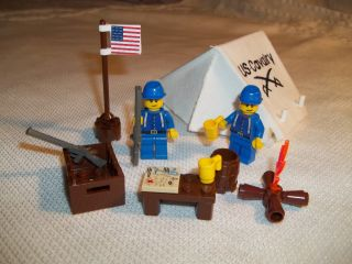 Lego Civil War Custom Union Cavalry Base Camp Set