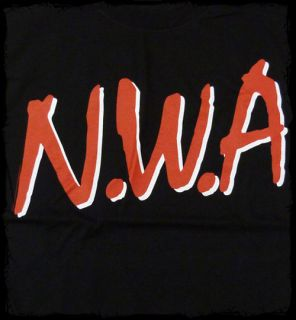NWA   Logo Straight Outta Compton t shirt   Official   FAST SHIP