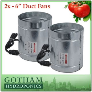 240CFM Duct Fan Booster Inline Cool Air Blower Vent 2X F005