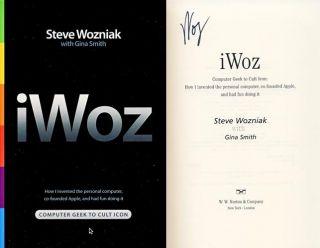 Steve Wozniak Signed Iwoz Book Apple Computer Creator