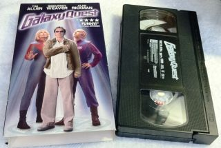 Galaxy Quest VHS Tim Allen Sigourney Weaver Hilarious DonT Miss It