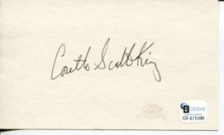 Coretta Scott King Civil Rights Leader Wife Martin Luther Signed