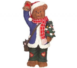 Indoor/Outdoor 30 Fiber Optic Resin Christmas Bear with Tree
