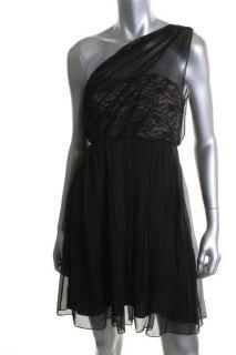 Alice Olivia New Conrad Black Lace Bodice Strapless Semi Formal Dress