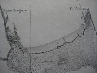 1862 Bache Coast Survey Shipwreck Map Coos Bay Oregon