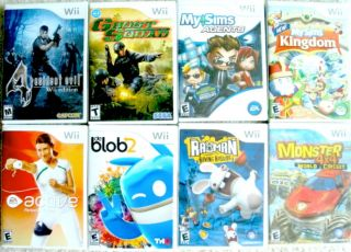 Wii console games 8 LOT Resident evil Personal Trainer My Sims Agent