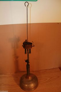 Vintage Coleman Quick Lite Gas Lantern FOR PARTS ONLY Silver Base