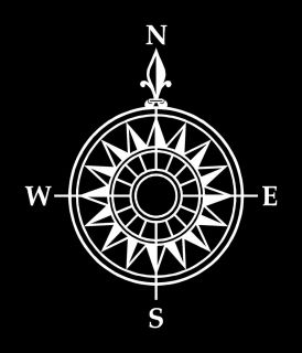 Nautical Compass Vinyl Vehicle Window Decal Sticker