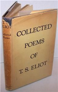 Collected Poems (1909 1935)   T. S. Eliot   FLAT SIGNED   Extremely