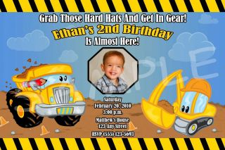 Construction Pals & Under Construction Personalized Birthday