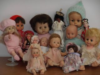 Vintage Collectible Lot 14 Dolls Ginny Baby Horsman Doll Baby Susan