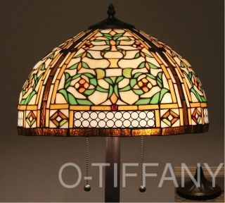 Tiffany Style Stained Glass Victorian Floor Lamp Concerto