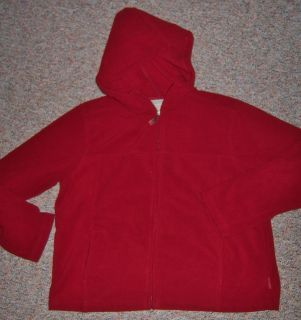 Royal Robbins Cranberry Color Fleece Zipper Front Hoodie Hooded Jacket