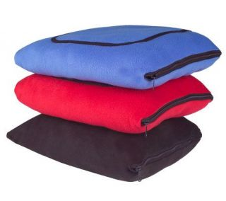 35 Degrees Below Polar Fleece Family TV Blanket —