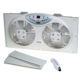 Brand New Bionaire Twin 3 Speed Window Fan with Remote Control