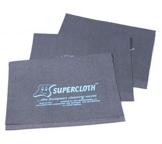 SuperCloth Set of 3 Multi Purpose Cleaning Cloths —